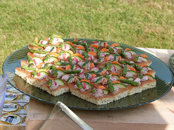 canapés anchois asperges