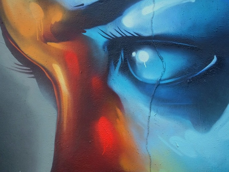 Street art on Elm Street
