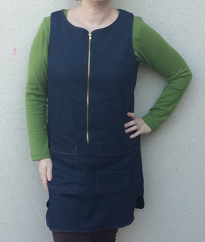 Style Arc Jodie pinafore with Deer & Doe Plantain tee