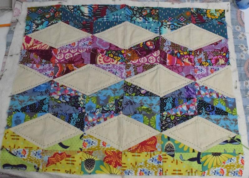 AMH WIP mini quilt