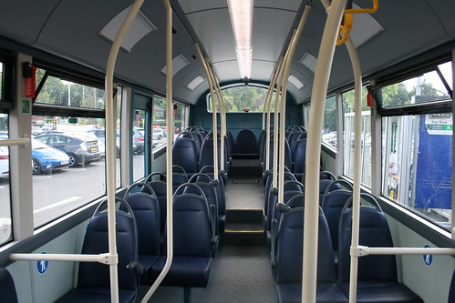 Interior of Arriva Southern Counties 4289 on Route 91, Knaphill