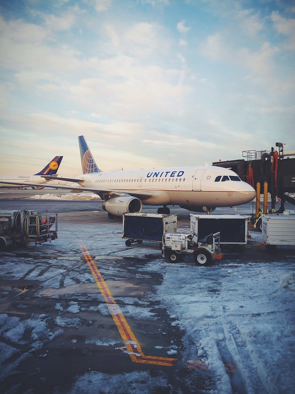 Snowy morning at Newark.
