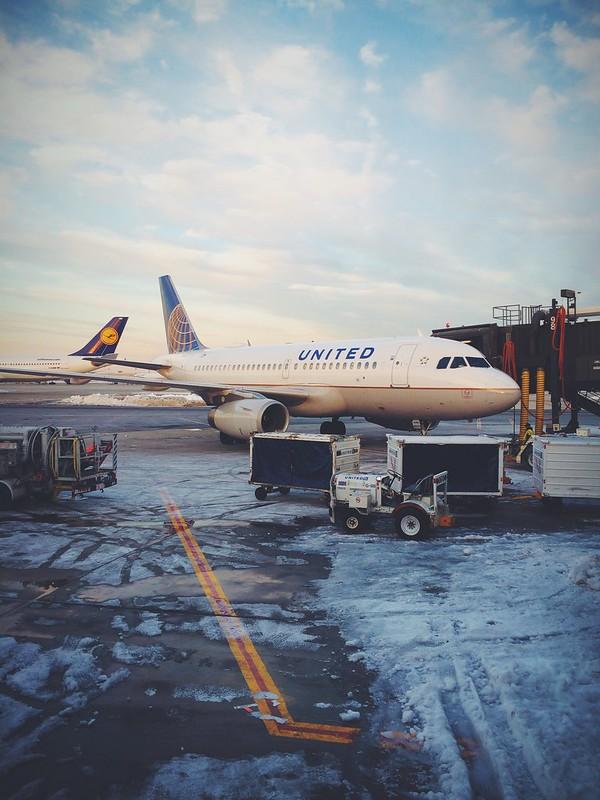 Snowy morning at Newark.