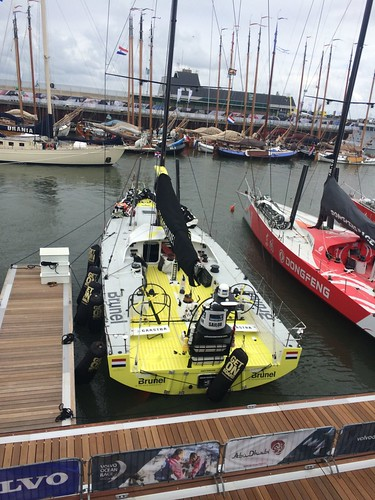 Team Brunel at the Volvo Ocean Race stopover in The Hague