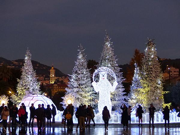 christmas lights in NIce