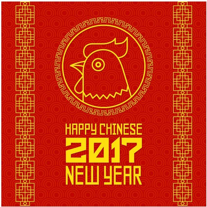 chinese new year source free vector happy chinese new year 2017 rooster background flickr