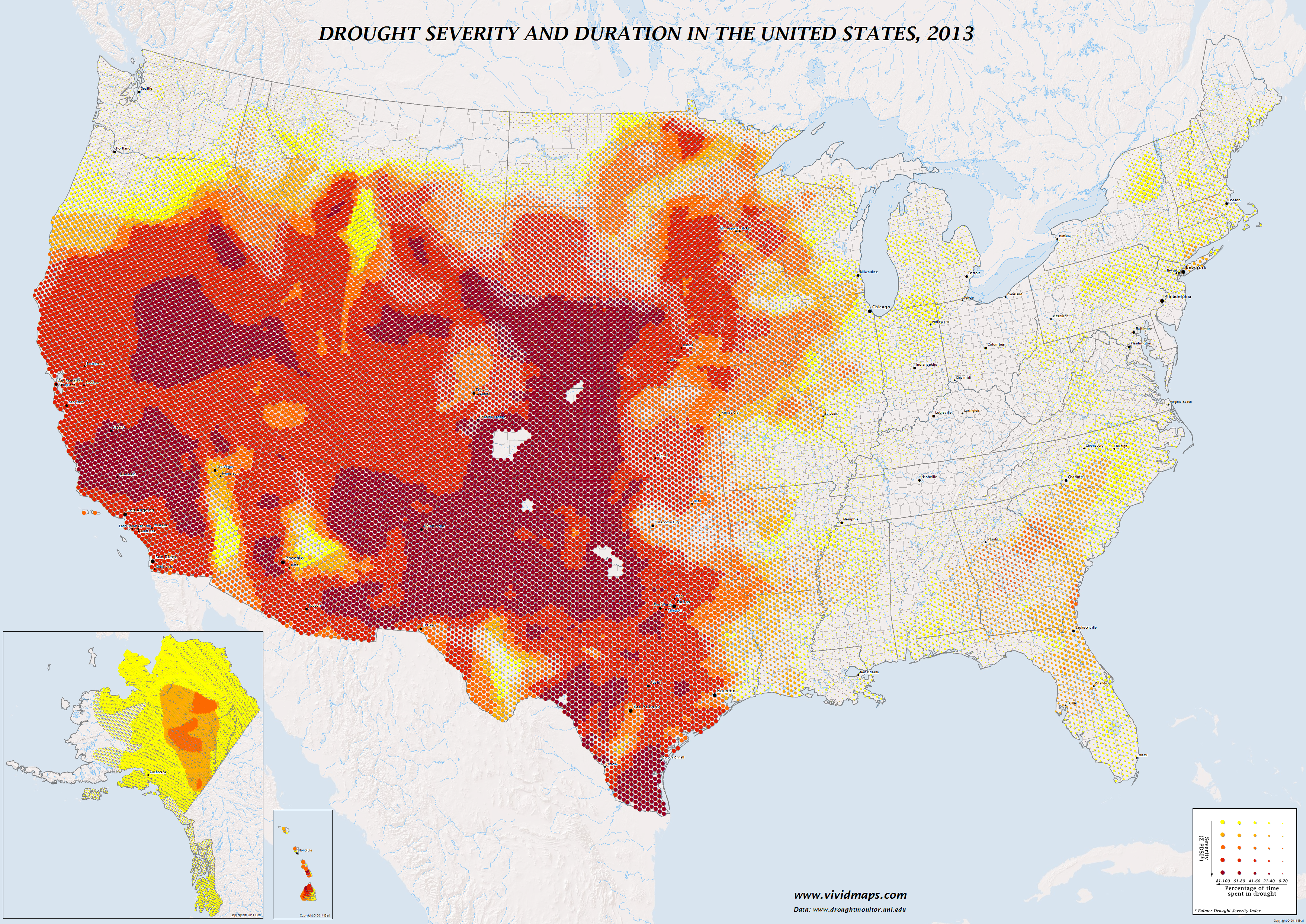Drought severity and duration in the United States (2013)