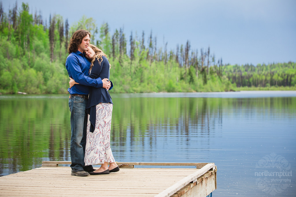 Lakeside Engagement Session - Prince George BC