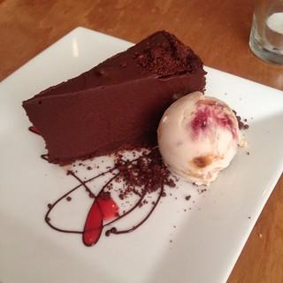 Super rich chocolate mousse cake at Plant in Asheville, NC - Even I struggled to finish this!