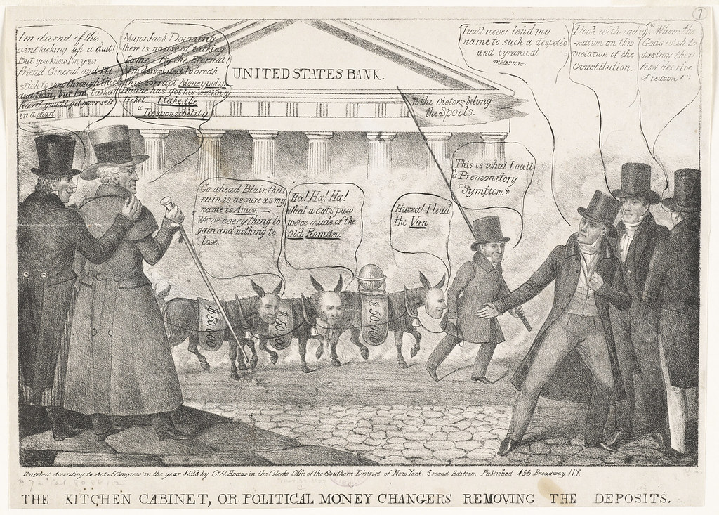 exceptional Kitchen Cabinet Politics #7: ... The kitchen cabinet, or political money changers removing the deposits  | by Boston Public Library
