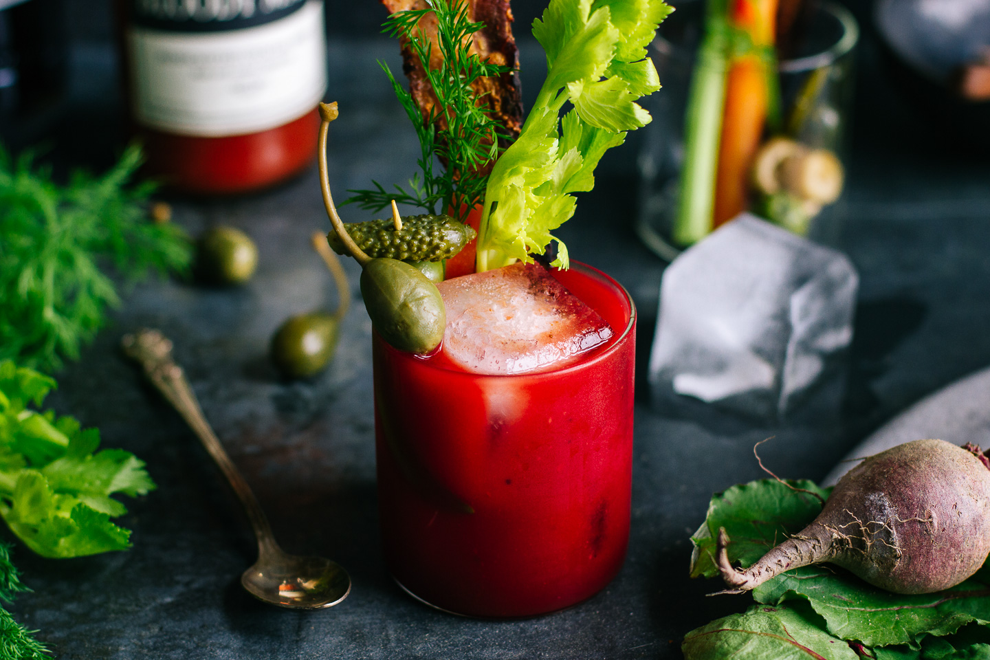 Dill & Beet Infused Bloody Mary