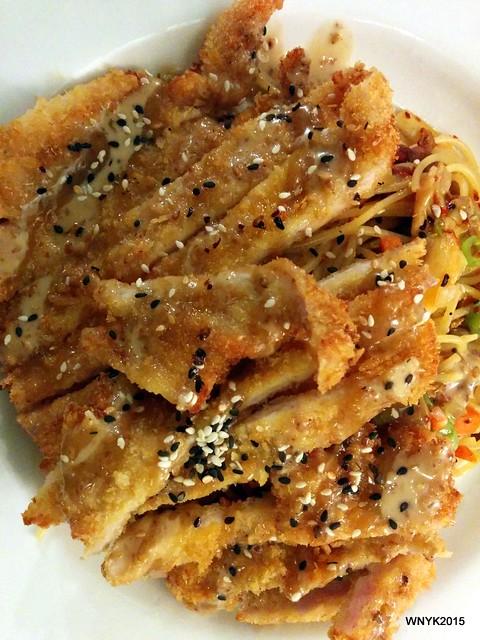 Madras Pork Chop Spaghetti