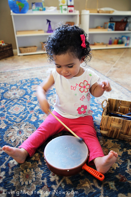 Playing the Drum at 19 Months