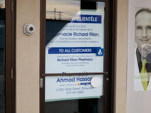 Filion closure notice