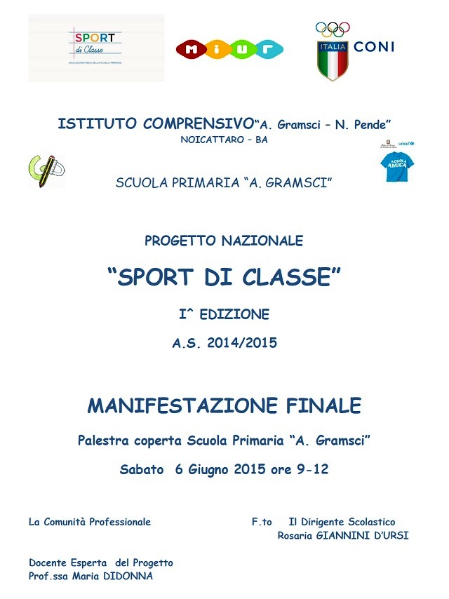 Noicattaro. Sport di Classe Gramsci intero