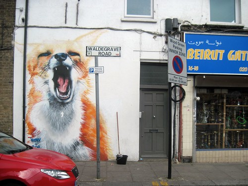 Fox Street Art Near Turnpike Lane