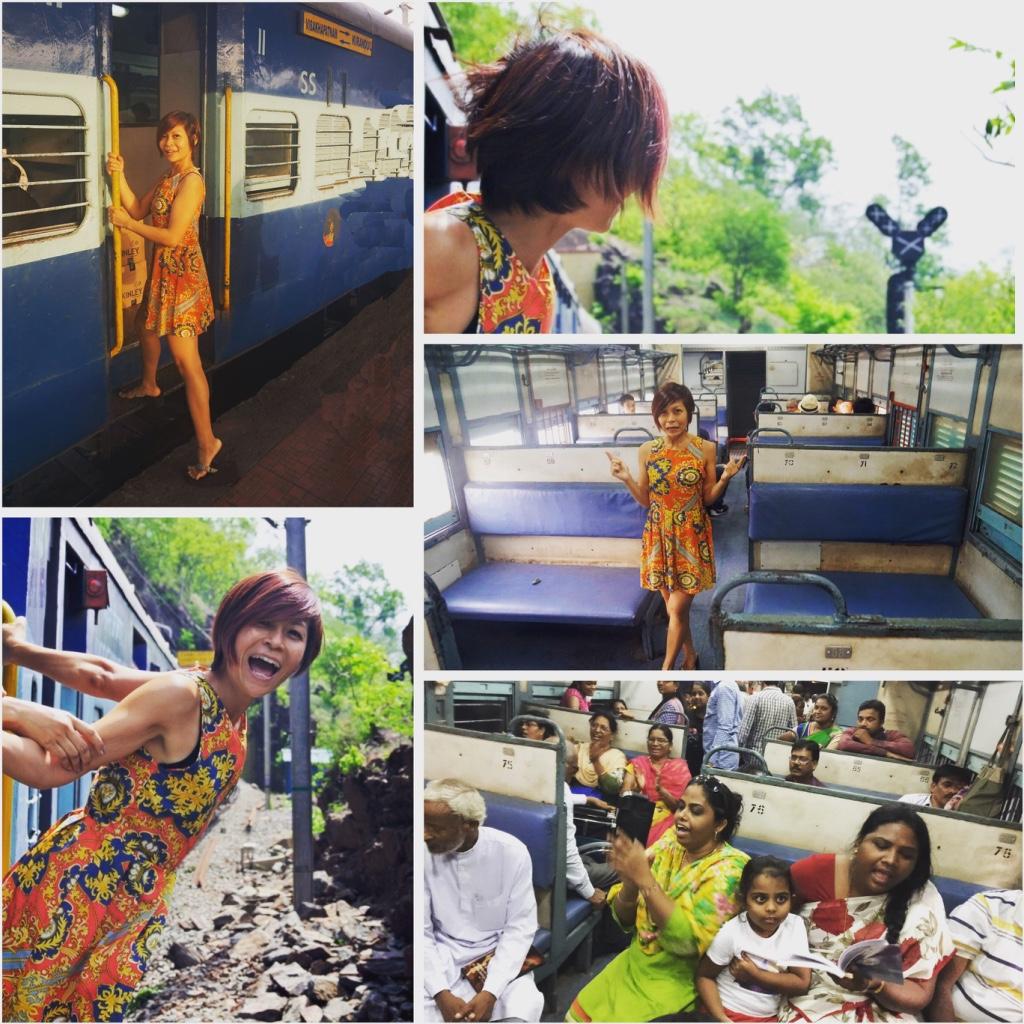 train ride -Rebecca Saw - india - visakhapatnam