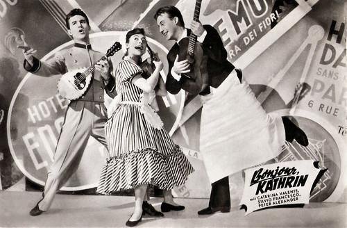 Caterina Valente, Silvio Francesco, Peter Alexander in Bonjour, Kathrin (1956)