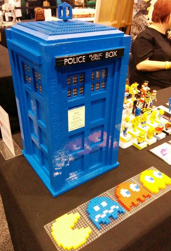 OzComicon 2015: Lego Tardis and Lego PacMan