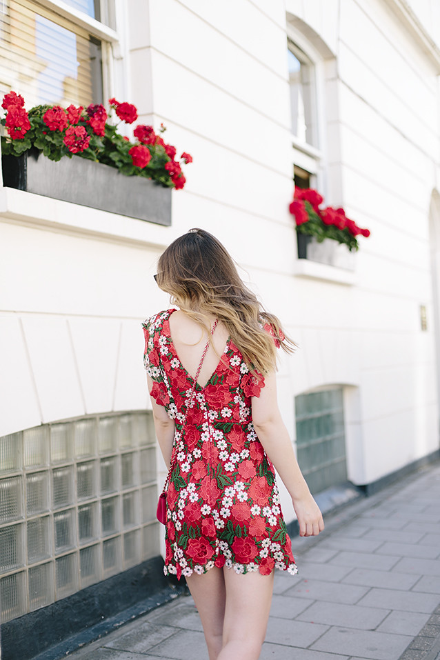 Red Floral Topshop Dress What Olivia Did