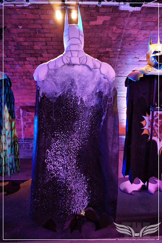 The Establishing Shot: BATMAN: ARKHAM KNIGHT CAPE & COWL EXHIBITION - FADE TO BAT BY JODIE KIDD - KACHETTE, LONDON