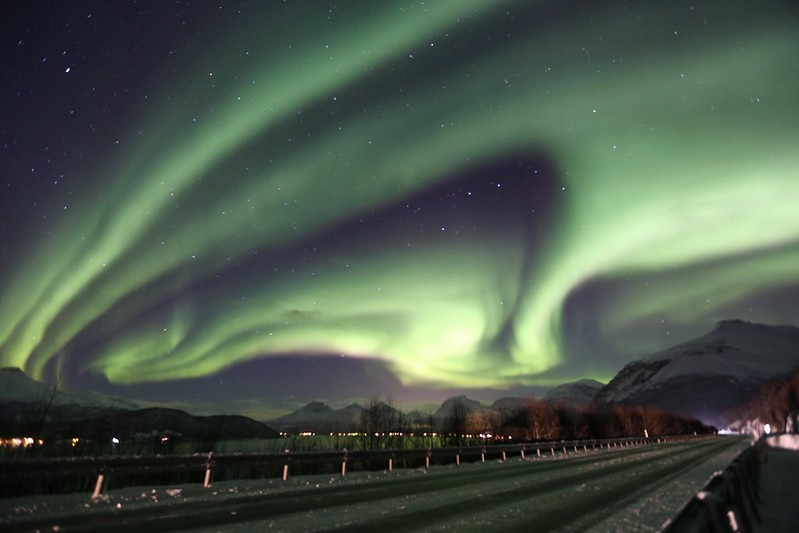 Northern lights over north Norway.
