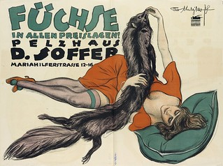 Foxes at all prices! Fur house D. Soffer (1919) | by Susanlenox
