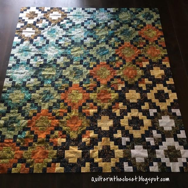 Batik tile - flimsy complete