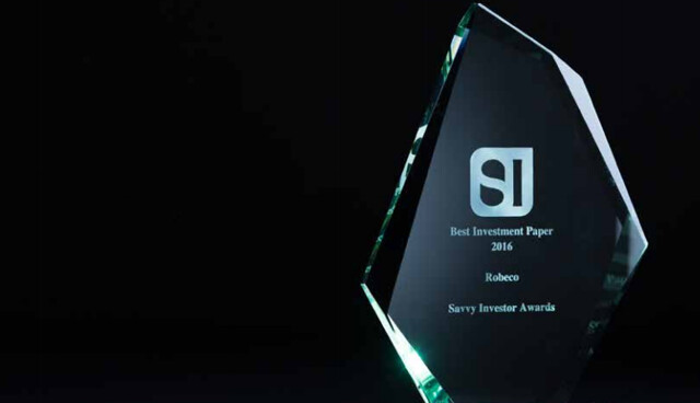 Savvy Investor Magazine 2016 Awards trophy