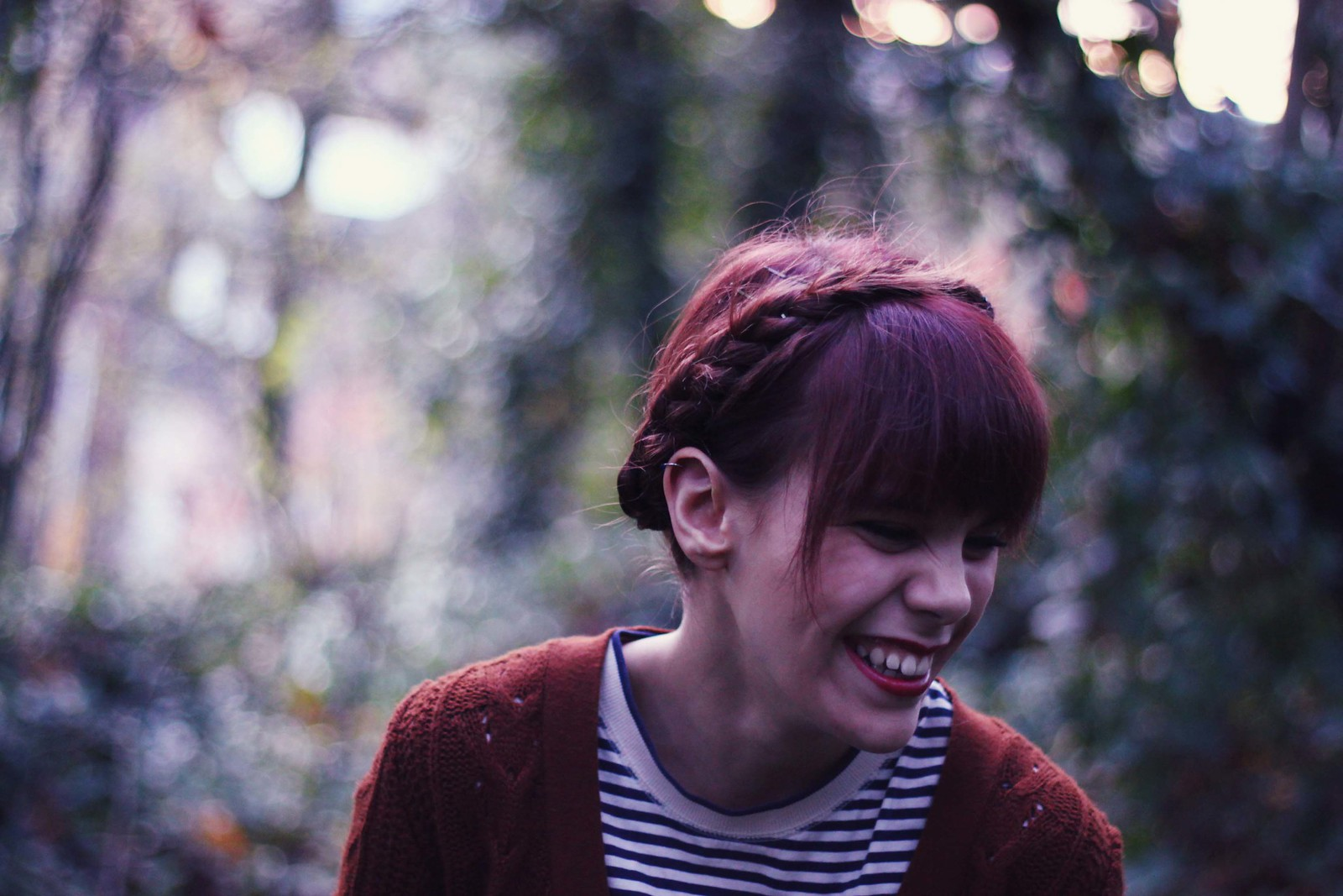 Frances McClain, candid, mid-laugh, 21. Februar 2012