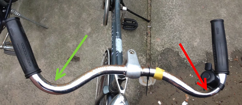 bike handlebar re-work