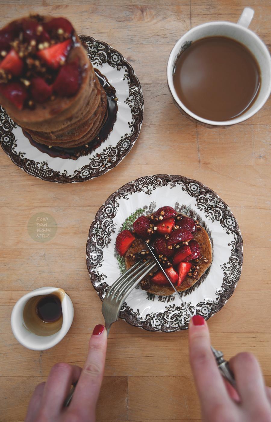 Buckwheat - banana pancakes