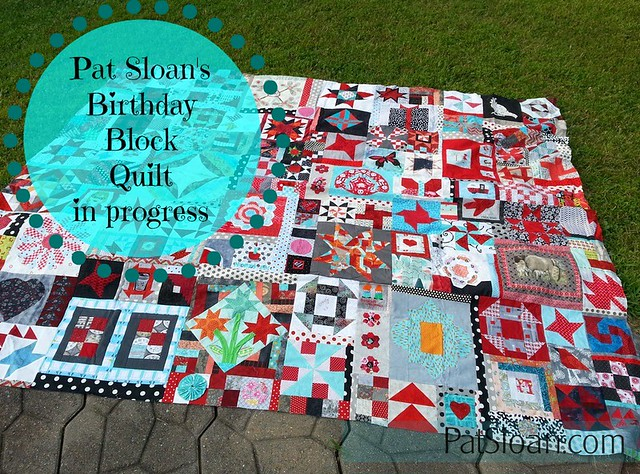 Pat Sloan birthday block quilt button