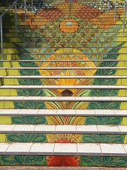 Tile ceramic steps in Lincoln Park (32nd and California)