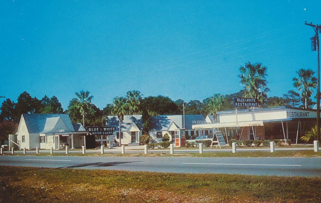 Blue & White Motel & Restaurant - St. Augustine, Florida