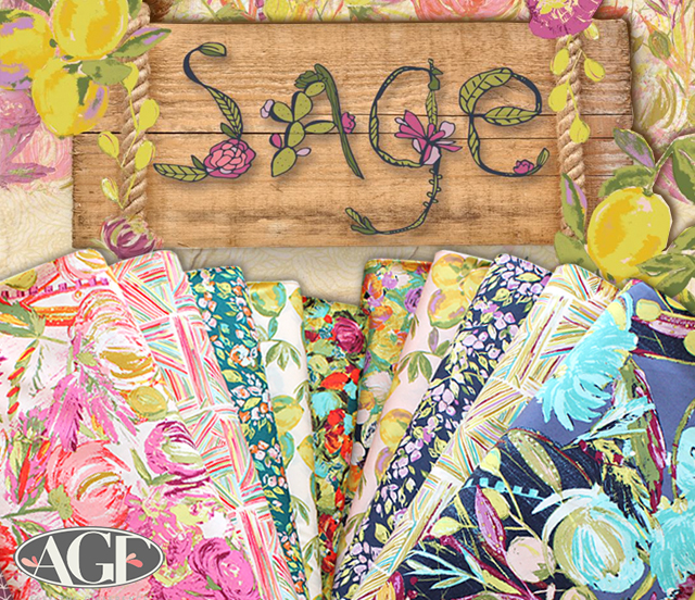 Art Gallery Fabrics Sage Collection by Bari J.