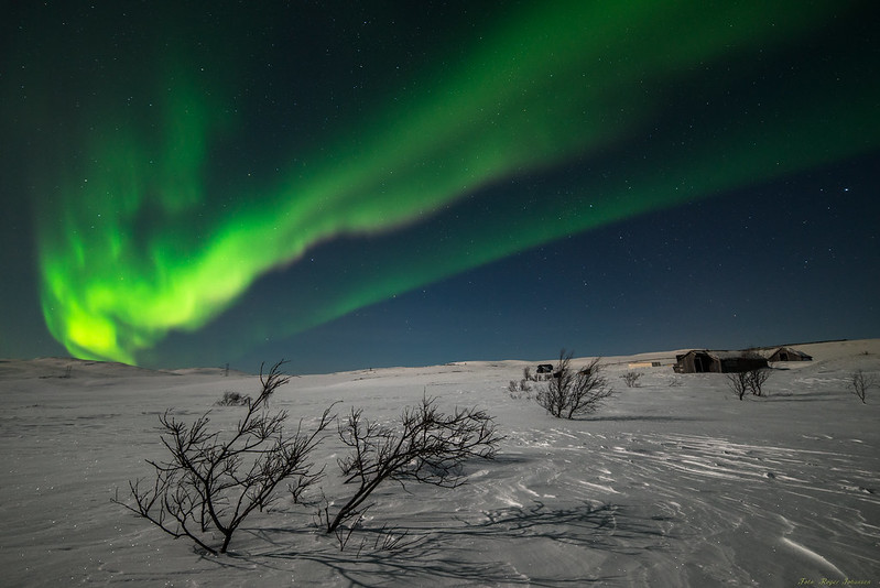 Northernlights at the flat mountain