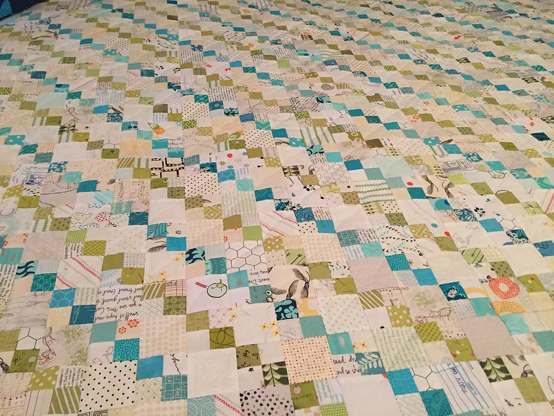 Sea Glass Stripes quilt detail