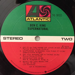 BEN E. KING:SUPERNATURAL(LABEL SIDE-B)