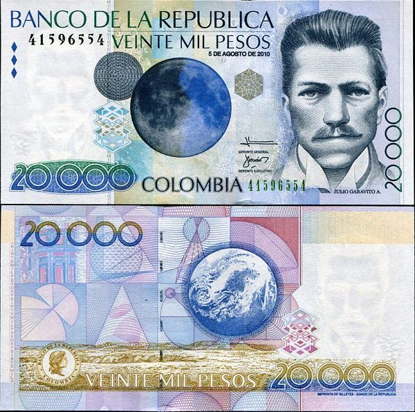 20 000 Pesos Kolumbia 2001-2007, Pick 454