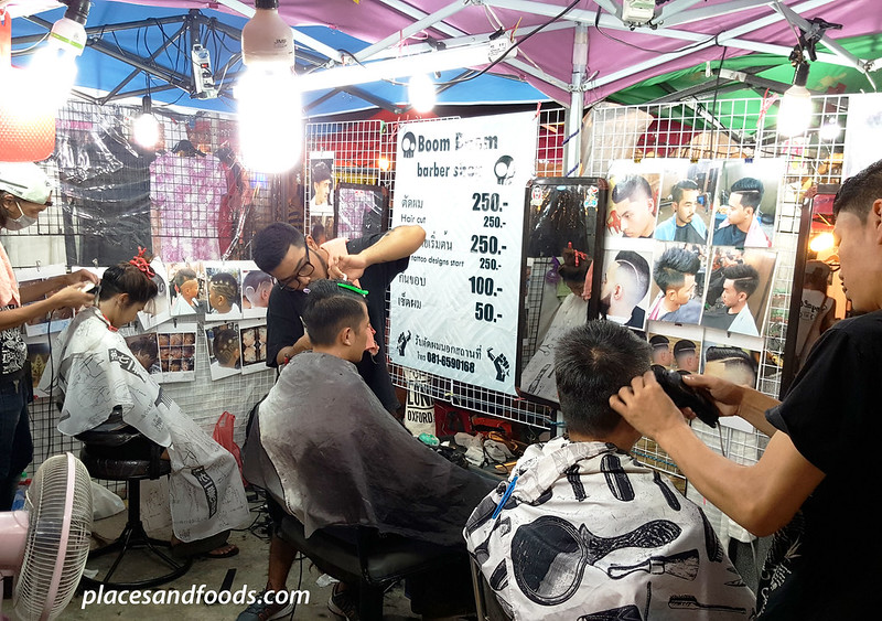 Talad Rod Fai 2 Bangkok Ratchada barber