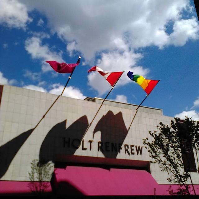 Pride at Holt-Renfrew #toronto #flags #pride #rainbow #pride