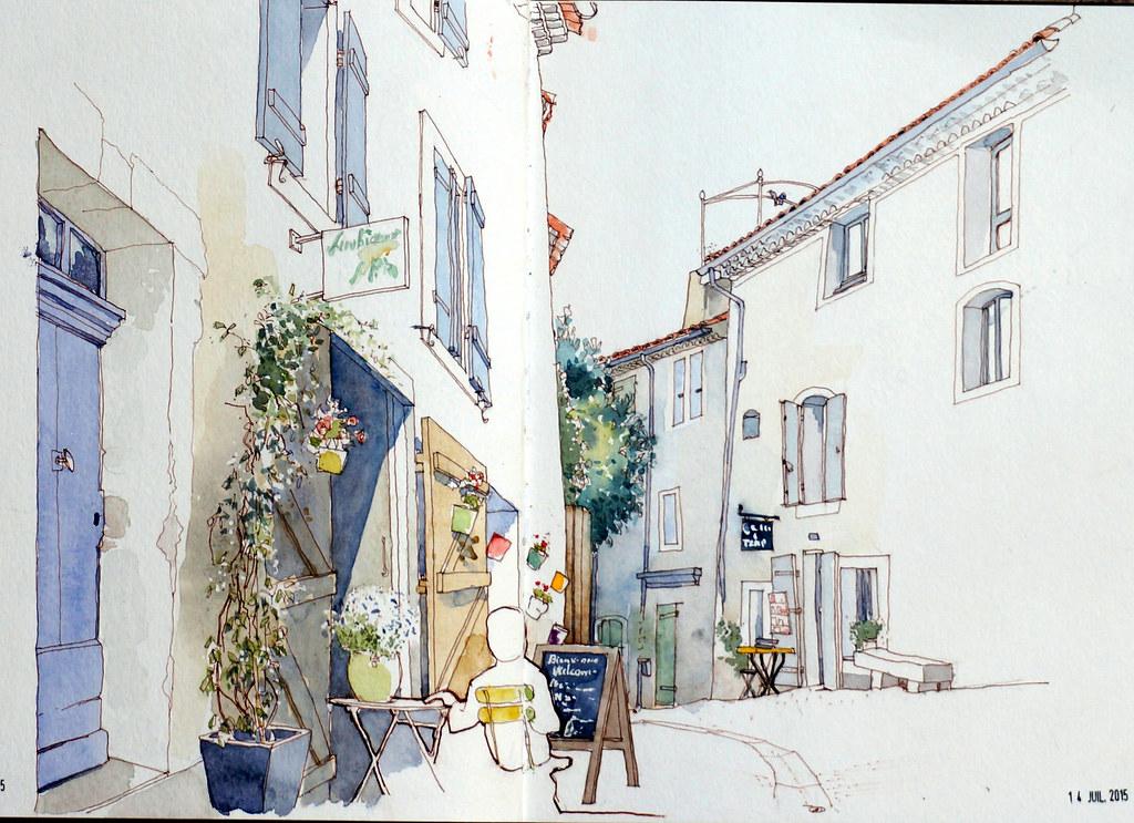 Lourmarin Rue De La Juiverie Ambiance Calme Et Sereine Le Flickr