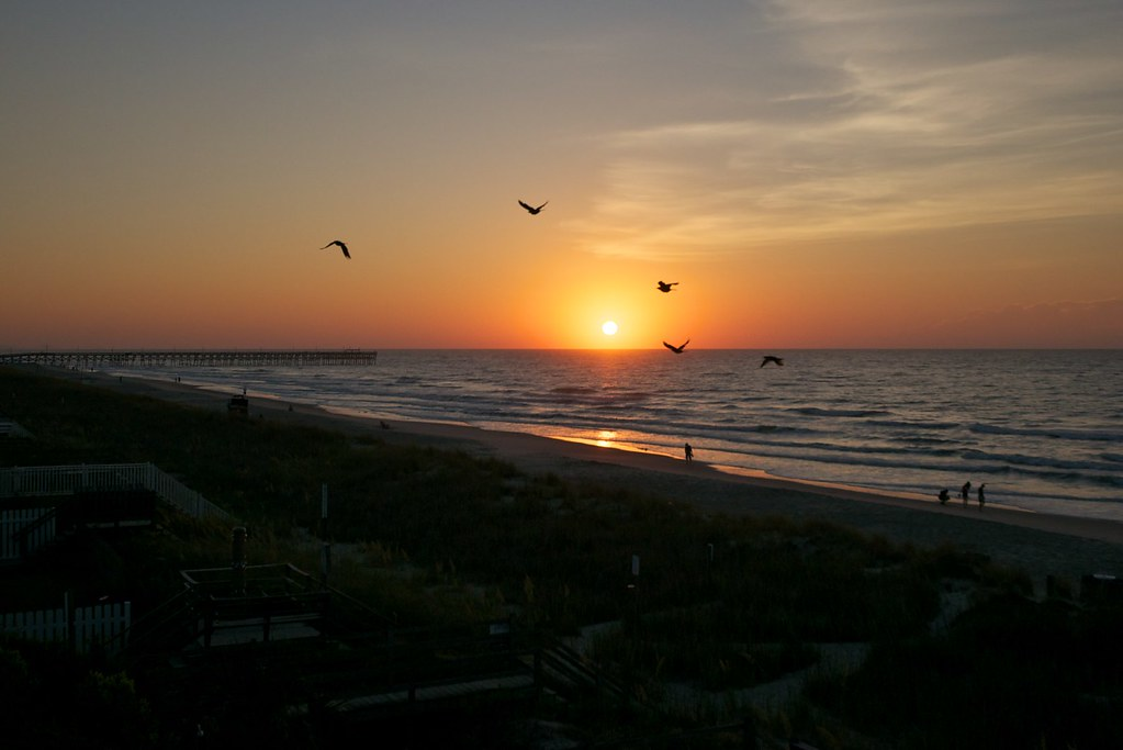 Sunrise At Surfside Beach Sc Sunrise On Our First Morning Flickr