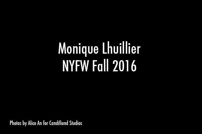 NYFW FW 2016 | Monique Lhuillier