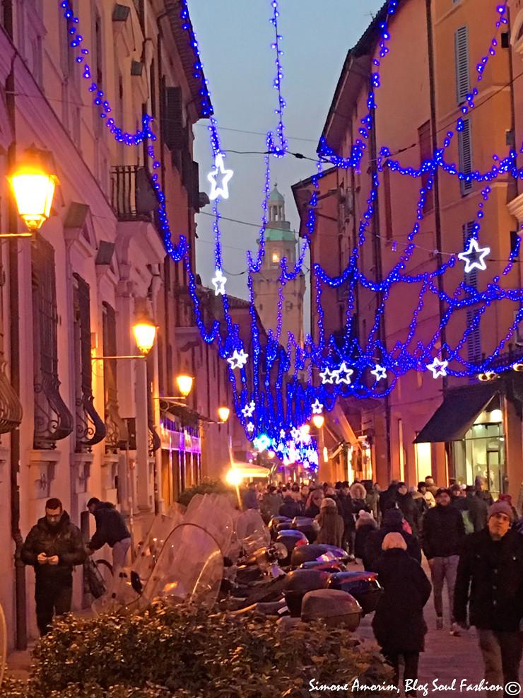 As luzes em via D'Azeglio.