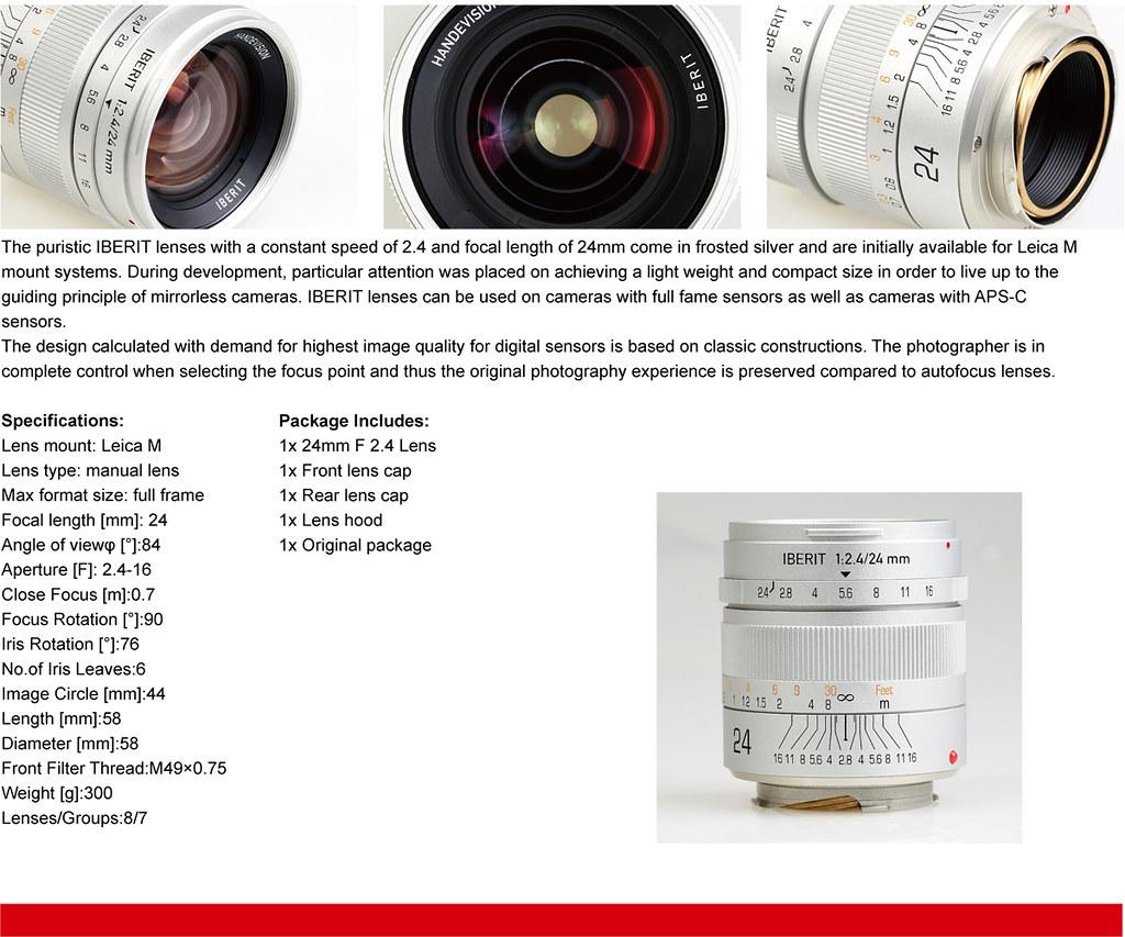 IBERIT 24mm F2.4 Full Frame Camera lenses for Leica M Moun…   Flickr
