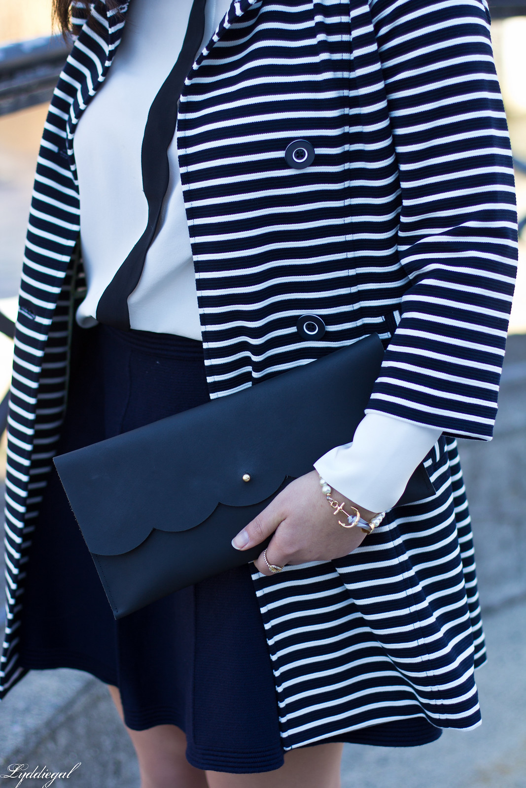 striped coat, scalloped blouse, navy skirt, anchor bracelet-6.jpg