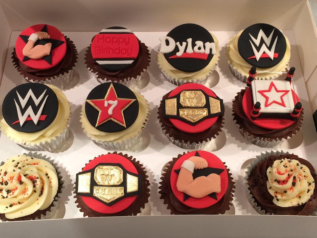 WWE Wrestling Birthday Cupcakes | Kat Buchan | Flickr