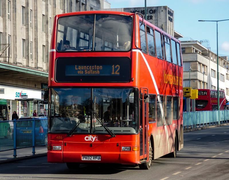 Plymouth Citybus 486 PK02RFJ